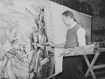 "Hale Woodruff working on a mural, 1942 Photo credit: rosenwaldschoolfilms.org // In 1917, Rosenwald established the Rosenwald Fund for ""the well-being of mankind."" If there was ever a time for African American writers, artists and scholars to benefit for their creative and intellectual pursuits in the era of New Negro consciousness, this was it. Some of the African Americans who received Rosenwald grants include Gordon Parks Jr., Elizabeth Catlett, Claude McKay, Dr. Charles Drew, Augusta Savage, Katherine Dunham, Ralph Ellison, W.E.B. Du Bois, James Weldon Johnson, Horace Mann Bond, Horace Cayton, Allison Davis, St. Clair Drake, E. Franklin Frazier, Charles Johnson, Ira Reid, Zora Neale Hurston, Marion Anderson, and Langston Hughes."