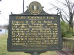 Rosenwald was appointed to the Board of Directors at the Tuskegee Institute (now Tuskegee University) in 1912, a position he held for the remainder of his life. Additionally, he established an endowed fund for Washington so that he would be able to focus more attention on directing the Institute. // Photo: www.waymarking.com