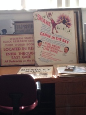 Old signage for the WSBRC and original Cabin in the Sky (1943) film poster