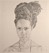 """""""Narrative IV"""" (2014, pencil on somerset paper) by Kenturah Davis from """"Narratives and Meditations"""" (New, Hand-written drawings) solo exhibition, August 30 - October 26, 2014."""