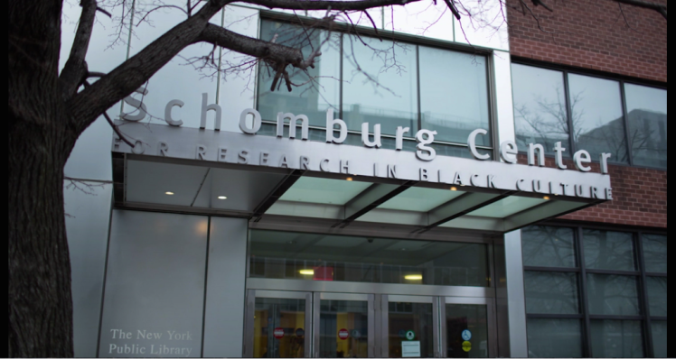 Screen shot of the Schomburg Center from The Progress Makers doc series (Paid Post by citi from the NY Times)