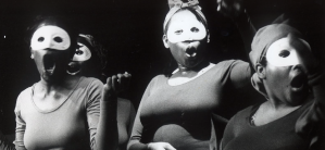 """Women performers from the Free Southern Theater production """"Where is the Blood of Your Fathers?"""" ca. 1971-1978 (Screenshot from Google Cultural Institute / physical rights of this image are retained by the Amistad Research Center)."""